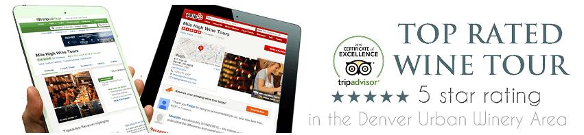 Mile High Wine Tours TRIPAVISOR AND yelp reviews