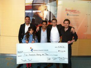 Mile High Wine Tasting Tours Donation to Children's Hospital