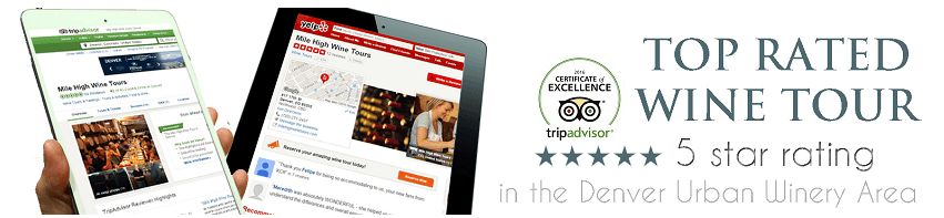 Mile High Wine Tours TRIPAVISOR AND yelp reviews