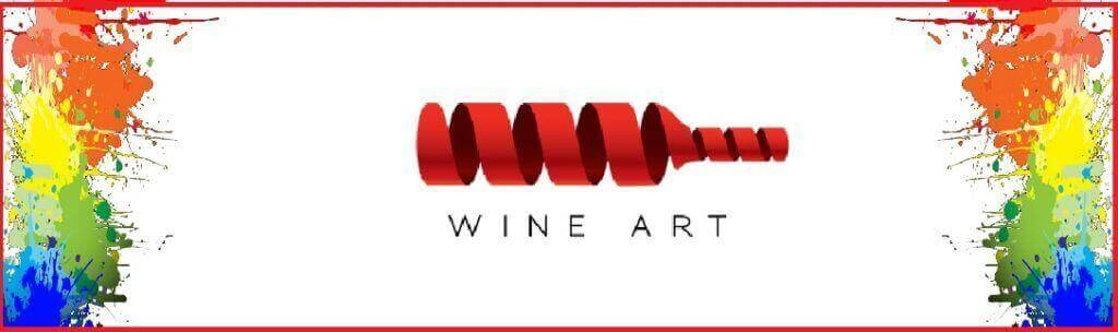 Photo of wine depicted as an art with paint graphics. Wine in Denver.