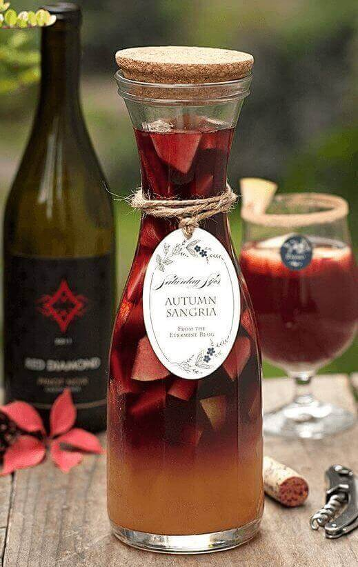 Autumn Sangria with Pinot Noir and Apple Cider