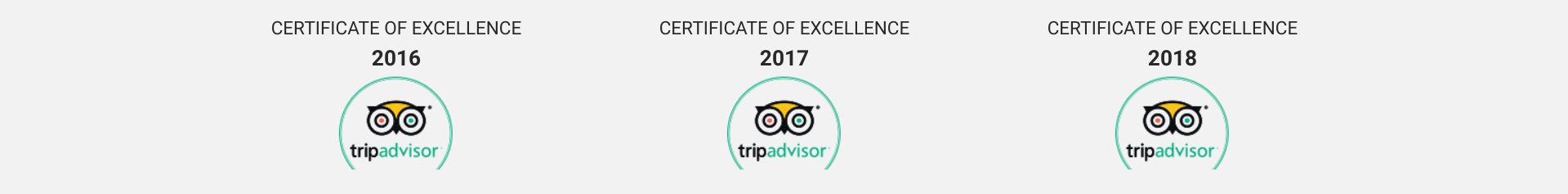 Certificate of Excellence Tripadvisor Mile High Wine Tours